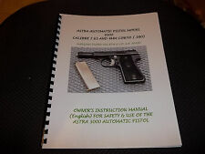 """ASTRA 3000 SEMI-AUTO PISTOL MANUAL, six pages of information in 8 1/2""""x11"""" size"""