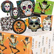 Día de los Muertos Azúcar Calavera Halloween Fiesta Suministros Vajilla, Decoraciones