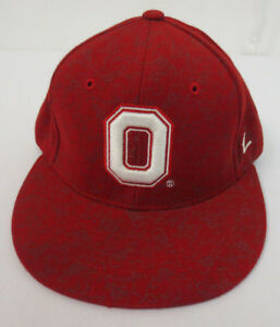 OHIO STATE UNIVERSITY HAT CAP ZEPHYR FITTED FLAT BILL STITCH MENS NCAA BUCKEYES