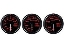 DEFI RED RACER 52MM 3 GAUGES SET (TURBO BOOST/OIL PRESSURE/OIL TEMPERATURE)