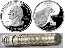 2007-S Idaho 90% Silver Proof Statehood Quarters 40 Coin Roll