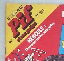 RARE VINTAGE FRENCH COMICS CARTOON MAGAZINE - PIF GADGET #801 (CIRCA 1985)
