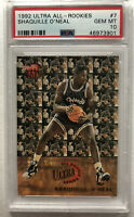 Shaquille O'Neal 1992 Fleer Ultra All Rookies PSA GEM MINT 10 best Shaq RC