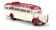Brekina 1/87: 58076 Saurer BT 4500 Bus, light ivory/red, open Roller roof