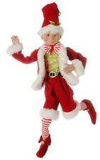 "Raz Imports 16"" SANTA POSABLE ELF 3702431 red Santa outfit"