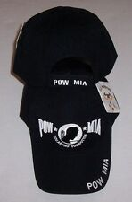 NEW Embroidered POW MIA You Are Not Forgotten Adjustable  BLACK Hat / Cap- OSFA