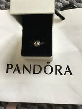 Genuine Pandora Very Rare Clover 14ct Gold And Silver Two Tone Charm In Box