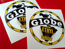 Globo Ethyl Gasoline Vintage Coche Clásico Retro Stickers Calcomanías 2 Off 90mm