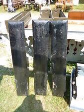 """huge ANTIQUE c1910-1920's BLACK wooden letter symbol I ~ 36"""" x 6.25"""" x 1.5"""""""