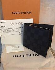 Authentic Louis Vuitton Portefeiulle Amerigo Damier Graphite Men's Wallet NEW!