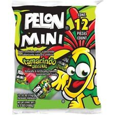 Pelon Mini Pelo Rico Tamarind Soft Candy Push Mexican Candy 12 Pieces 6.3 Net Wt
