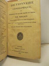 VOSGIEN, Dictionaire geographique ou description des quatre parties du monde