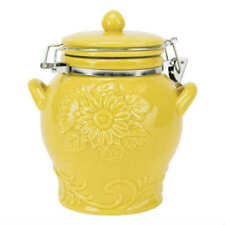 Boston Warehouse Yellow Sunflower Hinged Jar