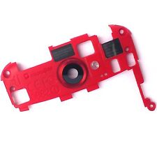 100% Genuine HTC One S rear camera glass lens cover+metal bezel red+frame