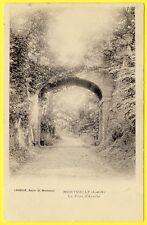 cpa 95 - MONTSOULT (Val d'Oise) Le PONT d'ARCOLE Edition LAROCHE Bazar