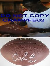 MORRIS CLAIBORNE,NEW YORK JETS,COWBOYS,LSU,SIGNED,AUTOGRAPHED,FOOTBALL,COA,PROOF