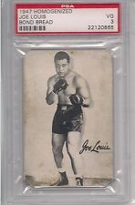 1947 HOMOGENIZED BOND BREAD JOE LOUIS PSA 3 POP 1 HIGHEST AND ONLY ONE GRADED