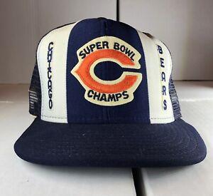 Chicago Bears AJD Lucky Stripes NFL Vintage 80s Super Bowl Snapback Cap Hat