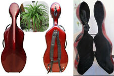 Free Shipping :Cello Case 4/4 Carbon Fiber Composite material with wheel+Straps
