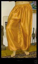 Harem Pants Belly Dance Satin Gold