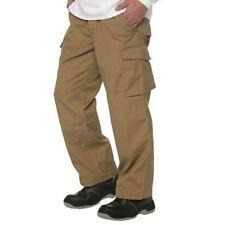 Russell 015M Mens Khaki Workwear Heavy Duty Cargo Pants Combat Trousers Sz 32x32