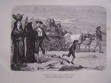 H200- gravure sur bois TYPES ET COSTUMES DE LA VALLEE D'OSSUN - 1885