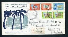 Suriname FDC E12_  1 (?) M, met adres ; extra frankering