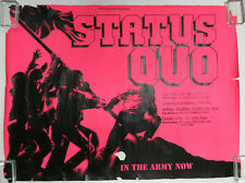 STATUS QUO In The Army Now 1986 IRISH Tour CONCERT POSTER Rossi PATFITT G/VG-