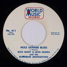 BUZZ BUSBY, LEON MORRIS: Mule Skinner Blues WM Bluegrass Hillbilly 45 HEAR
