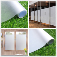 White Clear Static Cling Frosted Stained Glass Window Film Sticker Privacy Decor