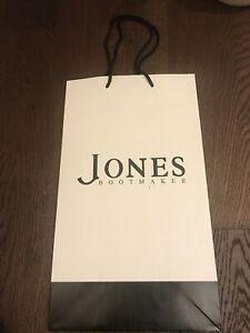 Jones Boot maker large  Carrier gift  paper bag
