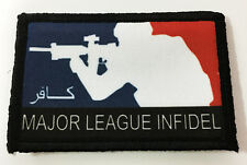 Major League Infidel Morale Patch Tactical Arabic MADE IN THE USA