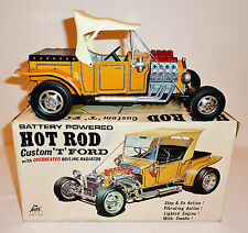 ALPS Japanese Tin Litho Batt Op 1960s FORD MODEL-T HOT ROD with BOX ~ 10.25-inch