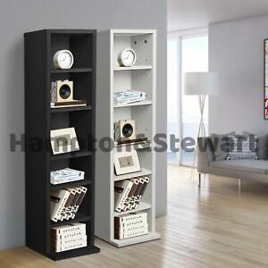 New Media CD DVD Storage Shelf Unit Bookshelf Bookcase