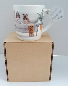 Cooksmart, Curious Dogs, 'It's a dog's life.....', Coffee/Tea Mug - New