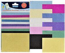 10 Glitzerbögen selbstklebend 15 x 10 cm Scrapbooking Glitzerpapier Bastelfolie