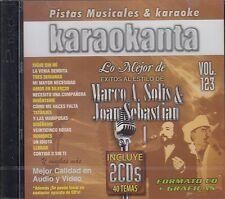Marco Antonio Solis y Joan Sebastian 2 Cds Vol 123 Karaoke Nuevo SEALED