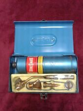 UNUSED - Collectible Vintage Bernzomatic Propane Blow Torch Kit w/ Metal Box USA