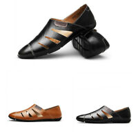 Mens Slip On Hollow Out Flat Heel Solid Loafter Casual Pumps Comfortable Shoes