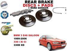 für BMW 3 E46 330 Limousine 320mm Bremsscheiben SET HINTEN+BREMSBELÄGE SATZ +