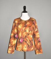 CHICO'S NEW $118 Midnight Floral Rebecka Jacket in Fireglow 0 / Small