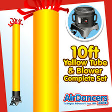 Yellow Tube AirDancer® & Blower Set 10ft Dancing Inflatable Tube Man