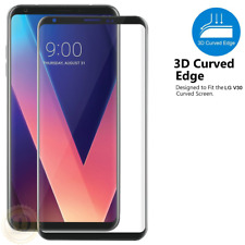 For LG V30 Screen Protector 3D Curved Full Coverage Tempered Glass Shield