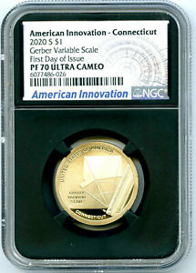 2020 S $1 CT VARIABLE SCALE NGC PF70 PROOF INNOVATION DOLLAR FIRST DAY ISSUE