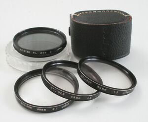 LOT OF FOUR 49MM FILTERS, POLARIZER, CLOSE UP SET +1, +2, AND +3/174531
