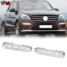 2Pcs For Mercedes Benz ML W166 2012-2015 LED DRL Daytime Running Driving Lights