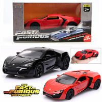 1:32 Fast and Furious Lykan Hyper Alloy Diecast Sport Car Kid Boy Toy Collection