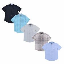 Tommy Hilfiger Mens Buttondown Shirt Pocket Classic Fit Oxford Short Sleeve New