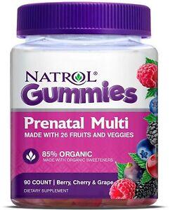 Natrol Prenatal Multi Gummies - Berry Cherry and Grape Dietary Supplements 90 ct