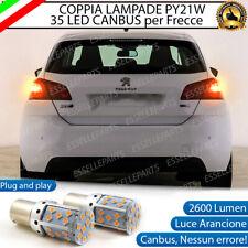 COPPIA LAMPADE PY21W BAU15S CANBUS 35 LED PEUGEOT 308 MK2 FRECCE POSTERIORI